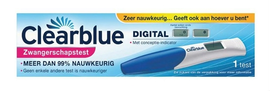 CLEARBLUE ZWANGERSCHAPSTEST DIGITALCONCEPTIE INDICATOR   1S