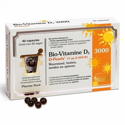 BIO VITAMINE D3 3000IE D PEARLS PH 80CAP
