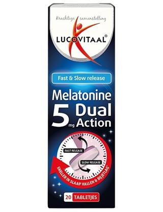 LUCOVITAAL MELATONINE 5MG DUAL ACTION 20 TABL
