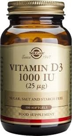 SOLGAR VITAMIN D3 25 AG1000 IU SO