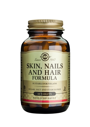 SOLGAR SKIN NAILS AND HAIR FORMULA 60 TABL